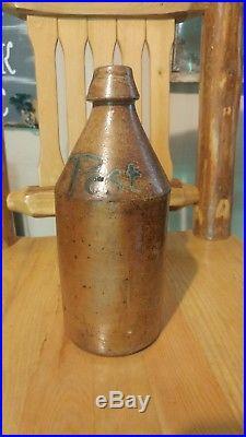 Pest Error Post Poughkeepsie N. Y. Stoneware bottle with turkey droppings