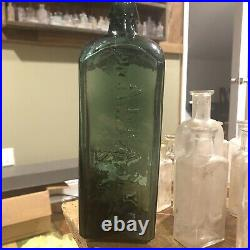 Pontil Emerald Green Dr Townsends Sarsaparilla New York Medicine