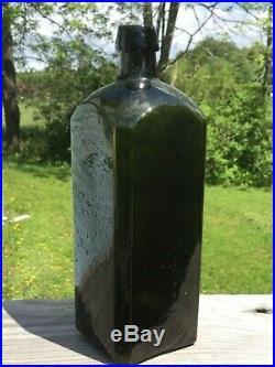 Pontiled Dr. Townsends Sarsaparilla Albany NY Olive Green Heavily Whittled