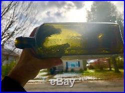 Pontiled Dr. Townsends Sarsaparilla Albany NY Olive Green Yellow NO Damage