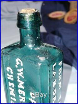 Pontiled G. W. Merchant, Chemist, Lockport, NY Medicine Bottle