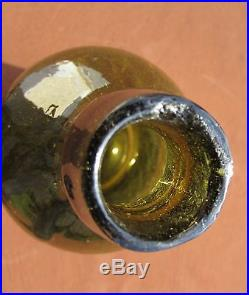 Pontiled Lynch & Clarke New York Golden Amber/Greenish in color Crude