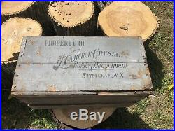 Pre Prohibition Haberle Crystal case crate Syracuse NY Congress Beer bottle