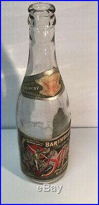 Pre Prohibition Pro Bartholomay Brewery Bottle Full label Rochester NY