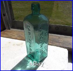 Pretty Teal Old Dr. J. Townsend's Sarsaparilla New York 1860 Early Smooth Base Med