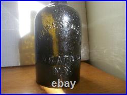 Quart G. W. Weston & Co Saratoga, Ny Crude Blackglass 1860 Mineral Water Bottle