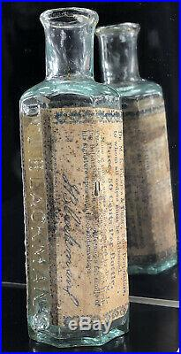RARE 1850 Dr J Blackmans Healing Balsam Albany NY open pontiled medicine bottle