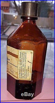 Rare 1920's E. R. Squibb & Sons Ipral (probarbital Sodium) Elixir Bottle, New York