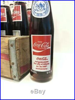 RARE 24 1986 Coca-Cola Albany NY Collectible Bottles & Wooden Coke Crate