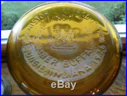 RARE 36 made Amber BALL 1880 1980 qt Ball BROS. Glass Mfg. Co. BUFFALO NY jar