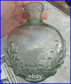RARE Antique Clyde's Dowser Glass Extinguisher Lion Head Clyde Glassworks, NY