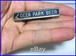 RARE BLUE 1930s Deer Park Beer Port Jervis New York Slider Wrench Bottle Opener