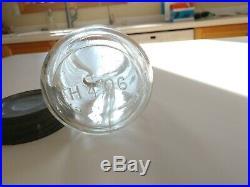 RARE Clear Rev/Clyde NY Straight Sided CFJ Pt Mason Patent 1858 Fruit Jar