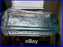RARE Dr. Kilmers complete Female Remedy Bottle Mint Binghamton N. Y. Peened