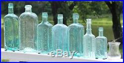 RARE G. W. HALSEY N. Y. Salve jar or shot glass Open PontiL Mint Condition GEM