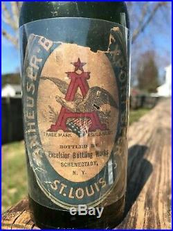 RARE PRE-PROB Bottle ANHEUSER-BUSCH EXPORT BEER -ST LOUIS-Schenectady, NY Bottler