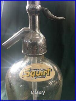 RARE SELTZER BOTTLE squirt Hyman chorosh bklyn. N. Y