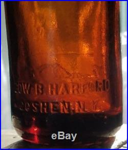 RARE Straight side coca cola bottle from GOSHEN, NY