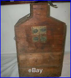 RARE Vtg 1905 TWOPLEX Boxed Demijohn/Fred White NY/ 1915 WINE Tax Stamps/Bottle