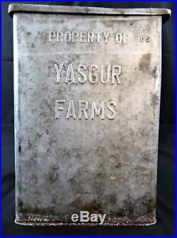 RARE! Yasgur Dairy Farms Bethel NY Porch Milk Box Woodstock Music Festival 1969