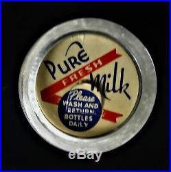 RARE pre Woodstock Yasgur Dairy Farms 1956 half pint cream bottle Bethel NY