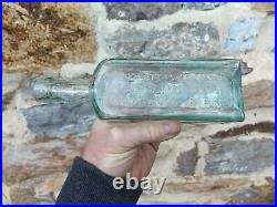 Rare 1850s pontil YOUATT'S GARGLING OIL COMSTOCK & BRO medicine New York