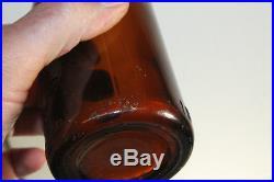 Rare Amber Rochester Ny Straight Side Coca Cola Bottle Center Slug Plate 10 Oz