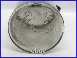 Rare! Antique 1898 A. G. SMALLEY & Co Boston & N. Y. Cow Milk Glass Bottle #7