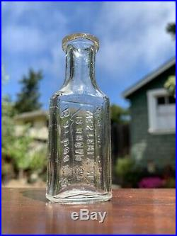 Rare Antique Embossed Pharmacy / Medicine Bottle Town of WESTERLY, N. Y. New York