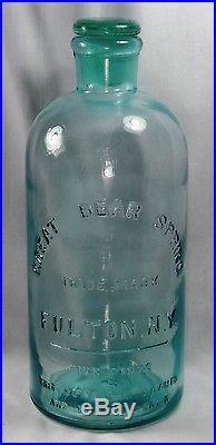 Rare Antique Great Bear Springs N. Y. Five Pints Water Bottle