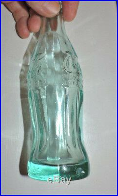Rare Aqua Blue Coca Cola Nov. 16,1915 Bottle Utica, N. Y. Nice