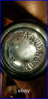 Rare Blue Embossed A. L. Anderson Coca Cola Rochester N. Y. 30 Oz. Very Nice