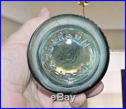 Rare Blue Straight Side Coca Cola Bottle Rochester, N. Y, A L Anderson Nice