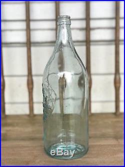 Rare Blue Straight Side Coca Cola Bottle Rochester, Ny, A L Anderson