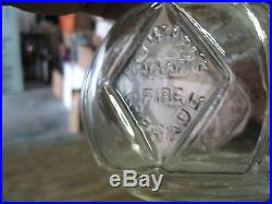 Rare Clear Glass Beautyhaywards 1871 Hand Thrown Fire Extinguisherbroadway, Ny