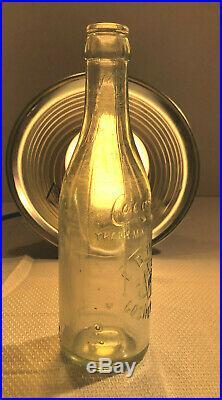 Rare Clear Straight Side Coca Cola Bottle Goshen, New York Nice