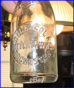 Rare Coca Cola Salemen's Miniature Slug Plate 4 Oz Bottle Rochester, N. Y