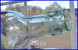 Rare Crystal Springs Ginger Ale Paper Label Round Bottom Bottle New York