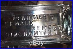 Rare Dr Kilmer's Female Remedy Binghamton NY Handtooled Sparkler
