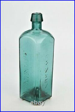Rare Dr. Townsend's Sarsaparilla Bottle NY Iron Pontil & Whittled 19th Century