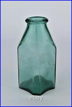 Rare Early Glass Pickle Jar Well's & Miller NY Pontil Base