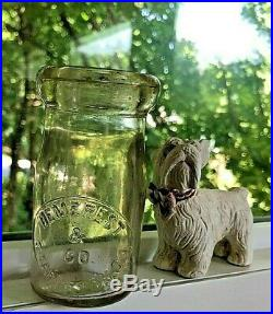Rare GIL (1/4 Pt.) Milk Bottle slug Plated DEMEREST & CO. STAPLETON, S. I. (NY)