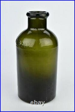 Rare Green Saratoga Glass Co. New York Glass Salt Jar 19th Century
