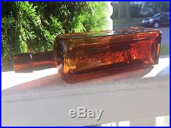 Rare Hop And Iron Bitters Utica NY Amber With Strong Puce Tint Handtooled