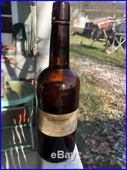 Rare Labeled Whiskey CROP OF 1892 O. F. C. RYE NY & KENTUCKY CO 3 Labels Handtool