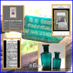 Rare! Only Known Examples N. B Briggs Pharmacist Bottle Clifton Springs, N. Y Mint