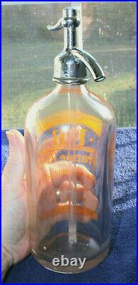 Rare Original Orange Kist Seltzer Bottle Binghamton, New York Nice