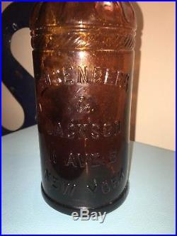 Rare Rosenberg & Jackson Whiskey Bottle New York 1800's Antique Bourbon Scotch
