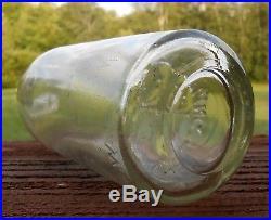 Rare STE West Troy Bottling Works C. G. W. Hutchinson Blob Soda Bottle Antique NY