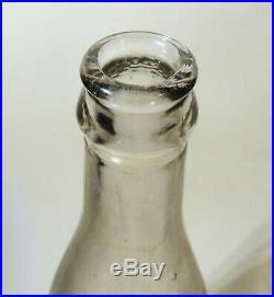 Rare SYRACUSE NY Antique vtg Coca Cola BOTTLE Coke New York Clear Straight Side